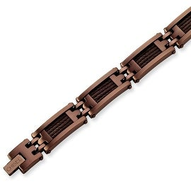 Chisel Stainless Steel Chocolate Color IP-plated Bracelet
