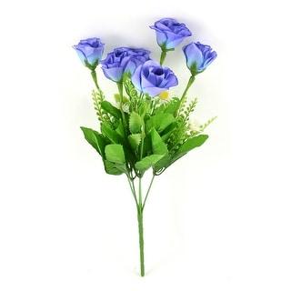 Bedroom Office Table Plastic Decoration Emulational Flower Bouquet Blue Green