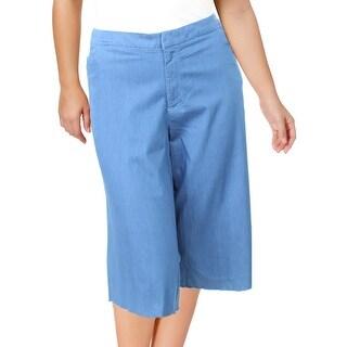 Modamix Womens Cropped Pants Casual Raw Hem