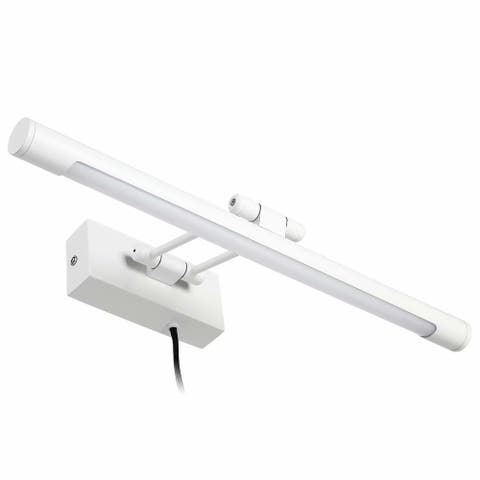 Gracili 8W LED Picture Light, Plug-in/Hardwire, 3000K Warm White, White - 1PACK
