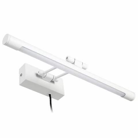 Gracili 8W LED Picture Light, Plug-in/Hardwire, 3000K Warm White, White