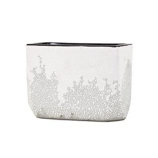 IMAX Home 13731  Frost Small Ceramic Vase - White