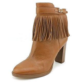 Ivanka Trump Preta Round Toe Leather Ankle Boot
