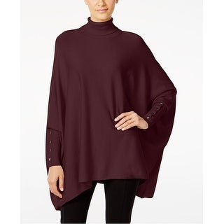 Alfani Turtleneck Poncho Dolman Sleeve Sweater - XL
