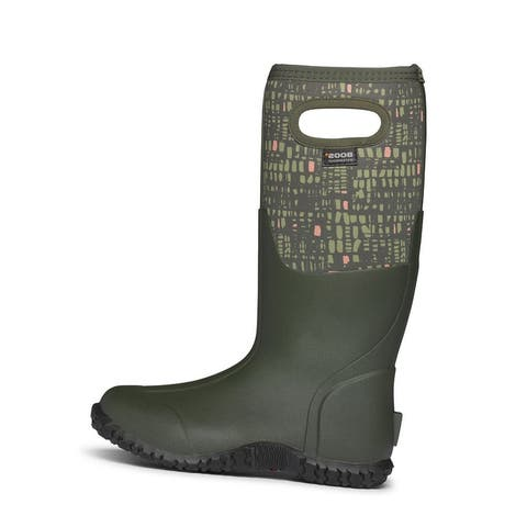 Bogs Outdoor Boots Womens Mesa Windows Waterproof Insulated - Dark Green Multi