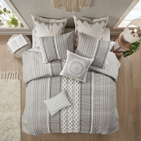 The Curated Nomad Clementina Geometric Cotton Duvet Cover Set