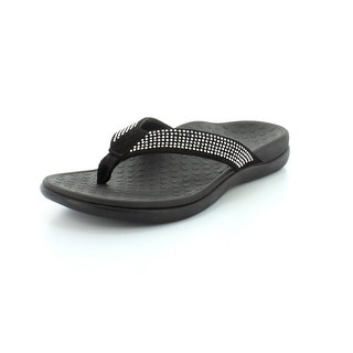 Vionic with Orthaheel Tide Rhinestones Women's Sandal - Black