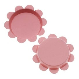 New Light Pink Flower Bottle Caps Craft Scrapbook Jewelry No Liners 25mm (24)