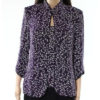 Alex Evenings NEW Purple Womens Size Large L Glitter Twinset Sweater