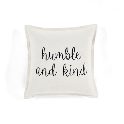 Lush Decor Humble and Kind Script Decorative Pillow Cover