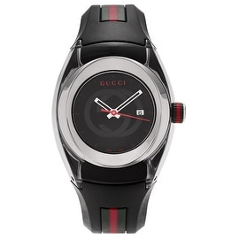 Gucci Men's Stainless Steel YA137301 'Sync ' Rubber Strap Watch