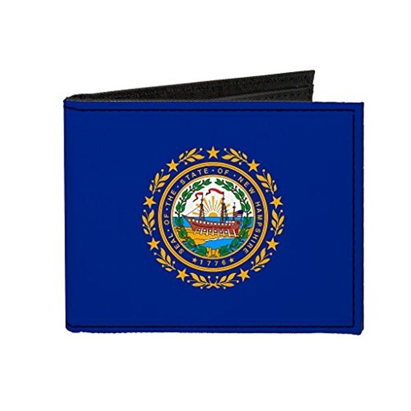 Buckle-Down Canvas Bi-fold Wallet - New Hampshire Flag Accessory
