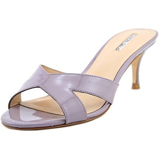 Charles David Nadira Women Open Toe Patent Leather Purple Sandals