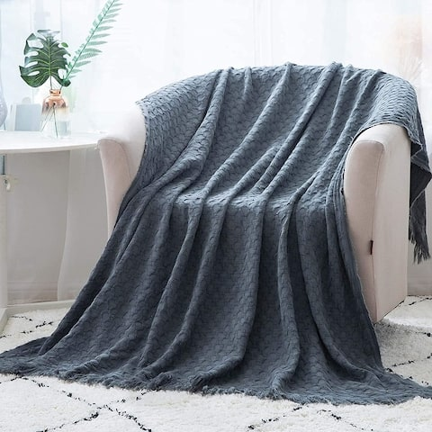 Kasentex Soft Cotton Throw Blanket