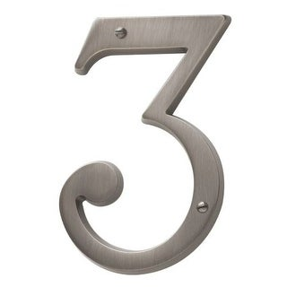 Baldwin 90673 Solid Brass Residential House Number 3