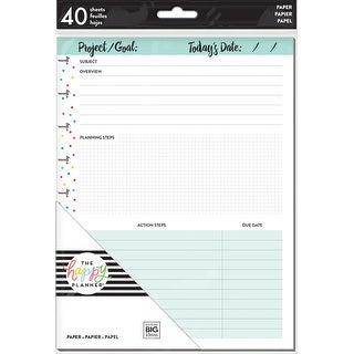 Happy Planner Medium Fill Paper 40/Pkg-Projects