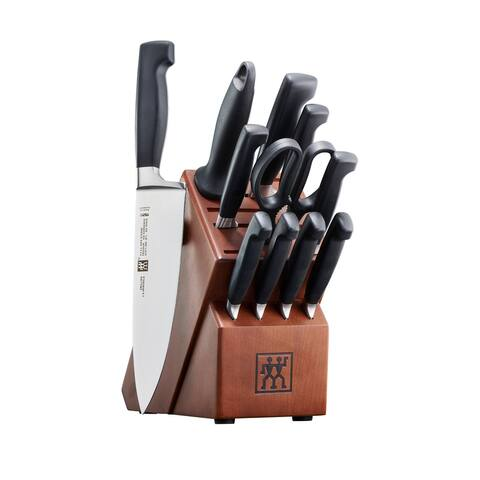 ZWILLING J.A. Henckels Four Star 12-pc Knife Block Set - Stainless Steel