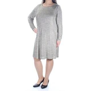 JESSICA HOWARD $99 Women New 1154 Gold Chevron Metallic Tunic Dress 18W Plus B+B
