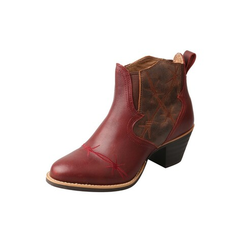 Twisted X Western Boots Womens Bootie Ankle High Leather Wine