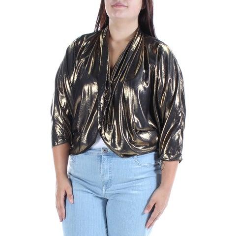 Womens Gold Party Bolero Jacket Size XL