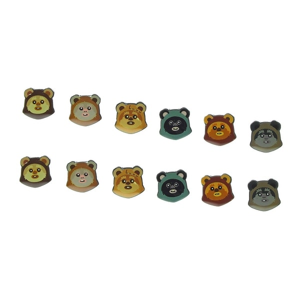 Star Wars Ewok Earrings 6-Pack