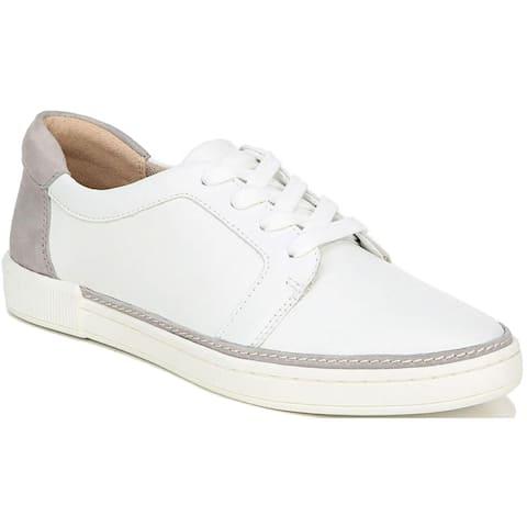Naturalizer Womens Jane Oxfords Leather Lace Up - White/Grey - 6.5 Medium (B,M)
