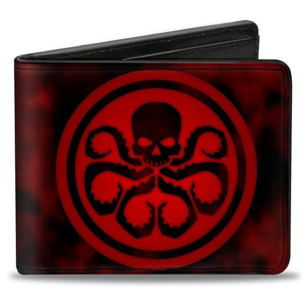 Marvel Universe Hydra Logo + Hydra Smoke Black Reds Bi Fold Wallet - One Size Fits most