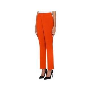 Tahari Womens Dress Pants Crepe Straight Leg