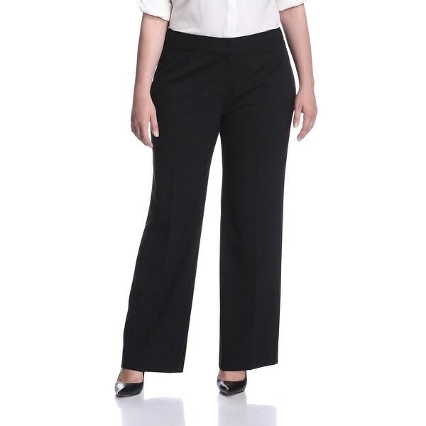 299527b873f Shop Tahari By ASL NEW Black Womens Size 20W Plus Flat Front Dress ...