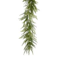 Set of 2 Artificial Wispy Green Springtime Fern Garland 72""
