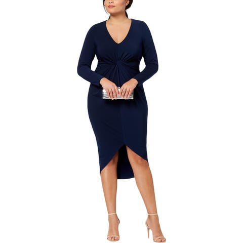 Soprano Womens Plus Party Dress Twist Front High-Low