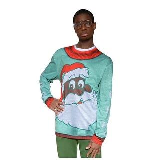 Adult Black Santa Christmas Sweater