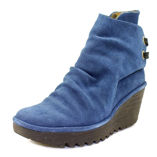 Fly London Yama Round Toe Suede Bootie