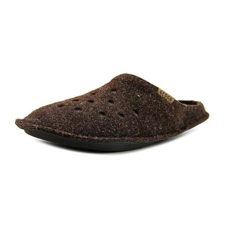 Crocs Classic Slipper Men Round Toe Canvas Brown Slipper
