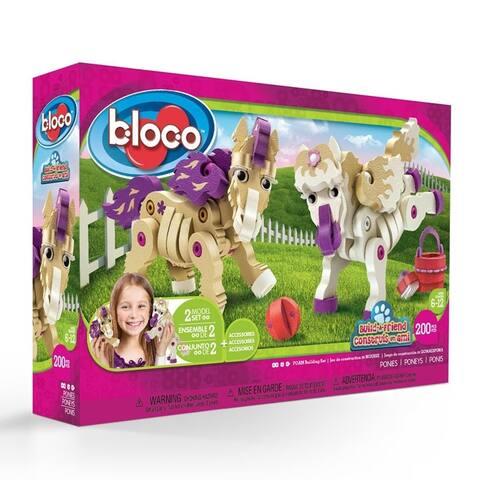 Bloco Toys Build-a-Friend Ponies Kit (191 Pieces)