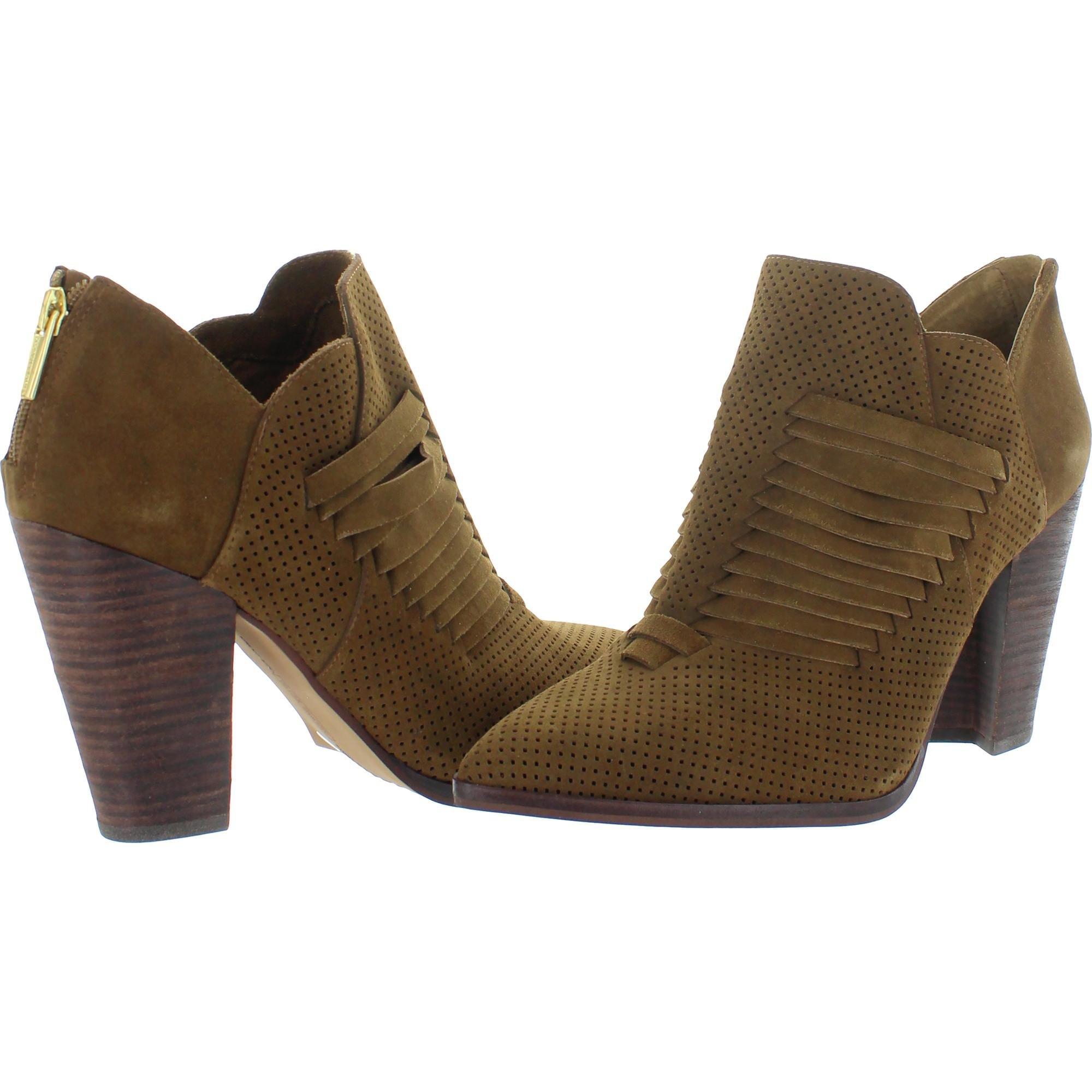Vince Camuto Levana Women/'s Woven Stacked Block Heel Ankle Bootie