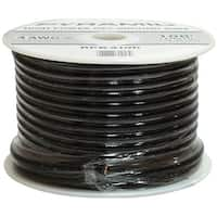 Pyramid 8 Gauge Black Ground Wire 100Ft Spool