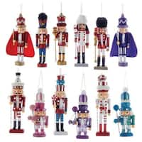 """Club Pack of 72 Vibrantly Colored Glittery Christmas Nutcracker Ornaments 6"""" - PURPLE"""