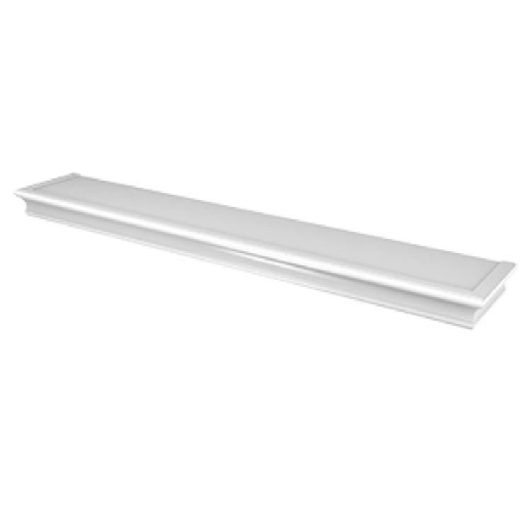 Hillman 515616 High & Mighty Beveled Floating Shelf, White, 36