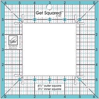 "Get Squared Ruler-6-1/2"" Outer & 3-1/2"" Inner"