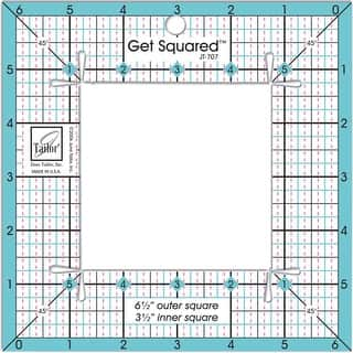 "Get Squared Ruler-6-1/2"" Outer & 3-1/2"" Inner