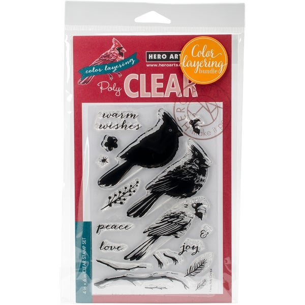 Hero Arts Clear Stamp & Die Combo-Cardinal