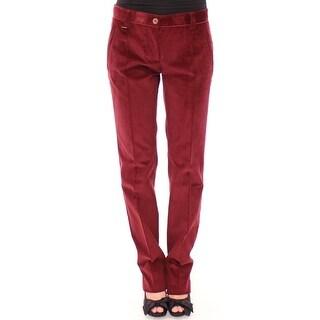 Dolce & Gabbana Dolce & Gabbana Red Bordeaux Corduroys Straight Casual Pants