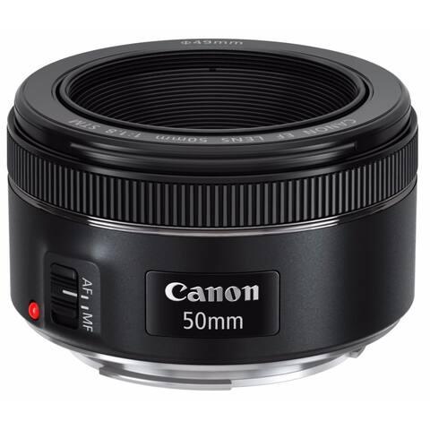 Canon EF 50mm f/1.8 STM Standard Prime Lens - Black
