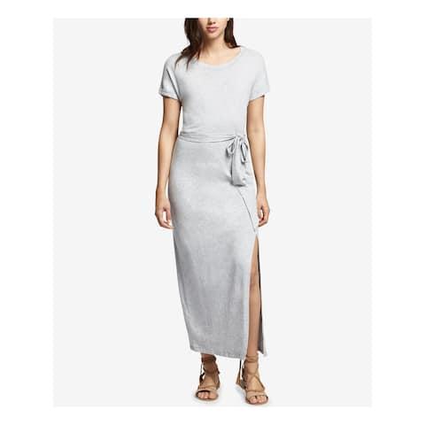 SANCTUARY Womens Gray Short Sleeve Jewel Neck Maxi Dress Size XL