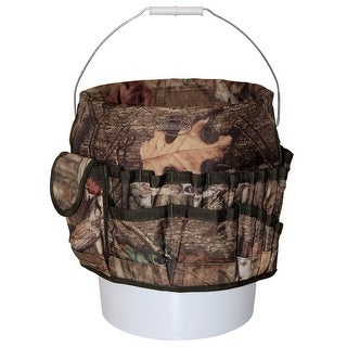 Bucket Boss 85030 Camo Bucketeer Bucket Tool Organizer, Mossy Oak