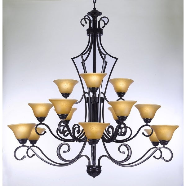 Foyer Chandelier Wrought Iron : Shop large entryway foyer wrought iron chandelier lighting