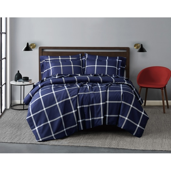 Truly Soft Printed Windowpane 3 Piece Comforter Set. Opens flyout.