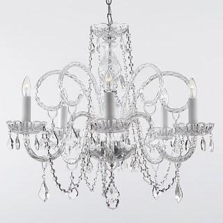 Crystal Swag Plug In Chandelier Lighting H25 x W24