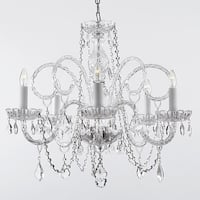 Crystal Swag Plug In Chandelier Lighting H25 x W24